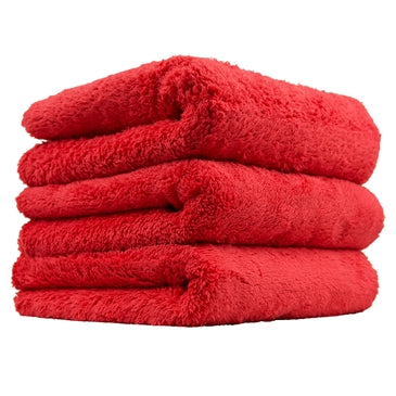 "Happy Ending Edgeless Microfiber Towel, Red, 16"" x 16"" (3 Pack)"