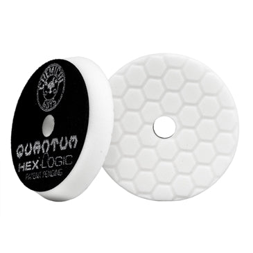 Hex-Logic Quantum Light-Medium Polishing Pad, White (6.5 Inch)