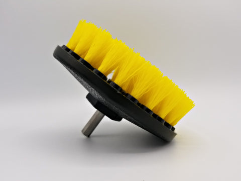 Carpet Brush w/ Drill Attachment, Medium Duty, Yellow