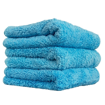 "Shaggy Fur-Ball Microfiber Towel, Blue 16"" x 16"""