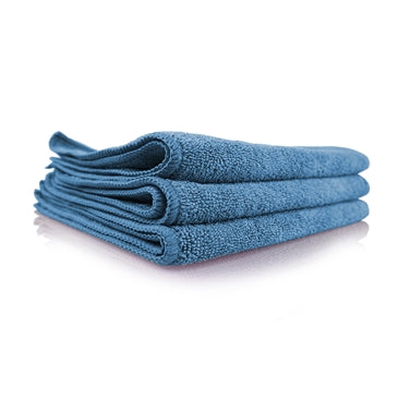 "Workhorse Blue Professional Grade Microfiber Towel, 16"" x 16"" (Windows), 3 Pack"
