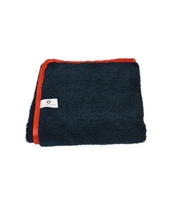 16x24 Black/Red Trim Microfiber towel 380 Gsm