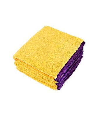 Gold/Purple Trim Microfiber towel 16x24