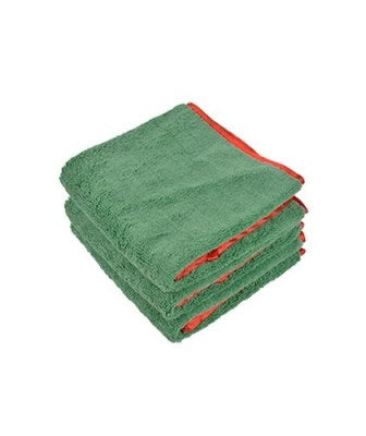 16x24 Green/Red Trim Micofiber towels 380 GSM