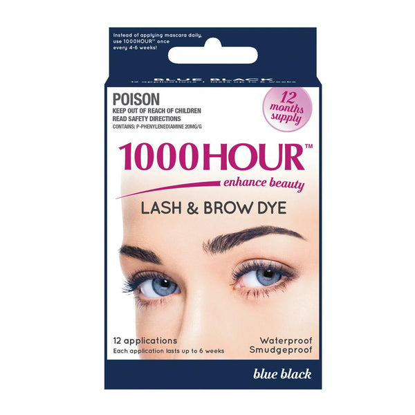 1000 Hour Lash & Brow Dye Kit 12 applications(Blue Black) - Pakuranga Pharmacy