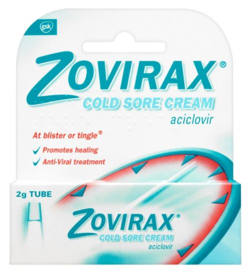 Zovirax (Aciclovir 5%) Cold Sore Cream 2g Tube