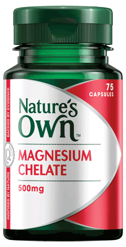 Nature's own Magnesium Chelate 500mg 75 Capsules - Pakuranga Pharmacy