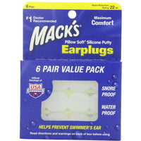 Macks Ear Plugs Value Pack 6 Pair - Pakuranga Pharmacy