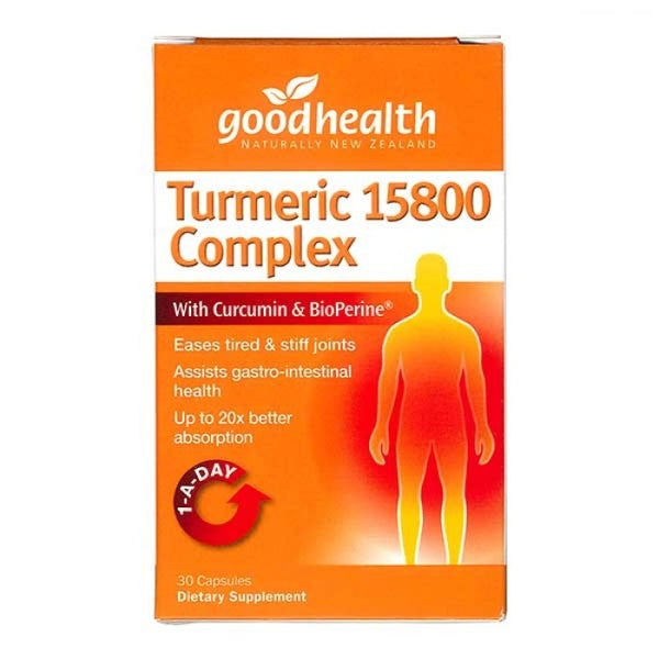 Good Health TURMERIC 15800 COMPLEX 30 CAPSULES - Pakuranga Pharmacy