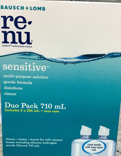B&L Renu sensitive contact lens duo pack 710 ml - Pakuranga Pharmacy