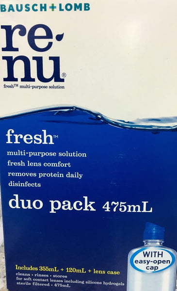B&L Renu Fresh Duo Pack Contact Lens 475 ml - Pakuranga Pharmacy