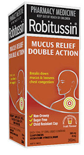 Robitussin Mucus Relief Double Action 200 ML Pharmacy Medicine
