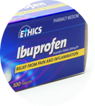 Ethics Ibuprofen 200mg - 100 tablets Pharmacy Medicine - Pakuranga Pharmacy