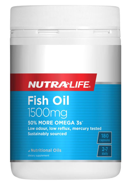 Nutralife Omega 3 Fish Oil 1500mg 180 capsules