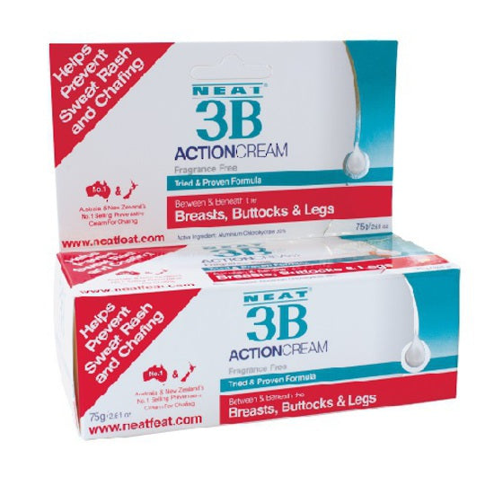 NEAT 3B ACTION CREAM 75g Tube For sweat rash and chafing.