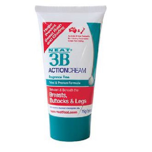 NEAT 3B ACTION CREAM 75g Tube For Sweat Rash And Chafing