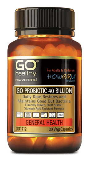 Go Healthy GO PROBIOTIC 40 BILLION 30 CAPSULES - Pakuranga Pharmacy
