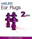 Melric Ear Plugs 2 pairs - Aqua Silicon