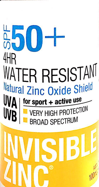 Invisible Zinc SPF 50 - 4Hr Water Resistance - Pakuranga Pharmacy