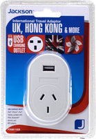 Jackson Outbound International Travel Adaptor-PTA8811 USB