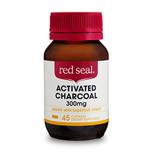 Red Seal Activated Charcoal 300 mg 45 Caps (Pack 2)