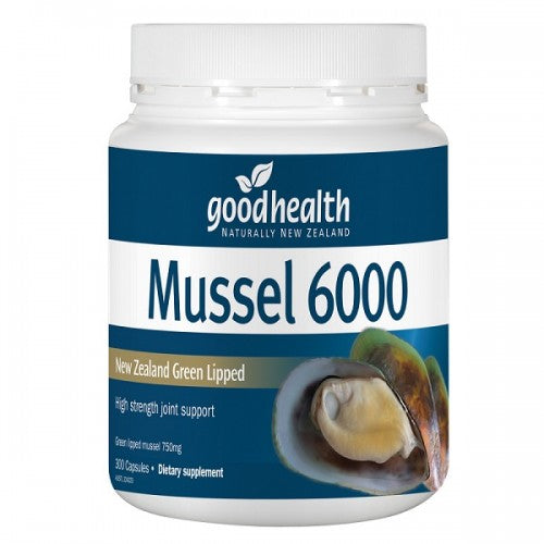 Good Health Green Lipped Mussel 6000 mg 300 Cap's - Pakuranga Pharmacy