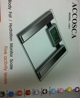Accosca Body Fat  Hydration Monitor Bathroom Scale - Pakuranga Pharmacy