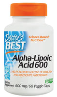Doctor's Best Alpha-Lipoic Acid 600mg 60 Veggie Caps - Pakuranga Pharmacy