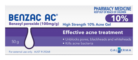 Benzac AC Acne Gel 10% 60gm Pharmacy Medicine