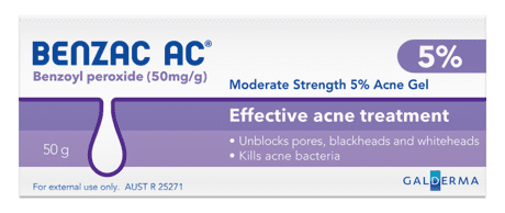 Benzac AC Acne Gel 5% 50 gm