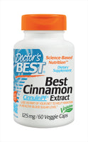 Doctor's Best Cinnamon Extract Cinnulin PF (125mg) 60 Veggie Caps