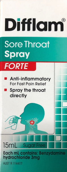 Difflam Sore throat spray FORTE 15ML - Pakuranga Pharmacy