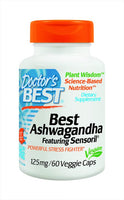 Doctor's Best Ashwagandha with Sensoril Veggie Caps 60's - Pakuranga Pharmacy