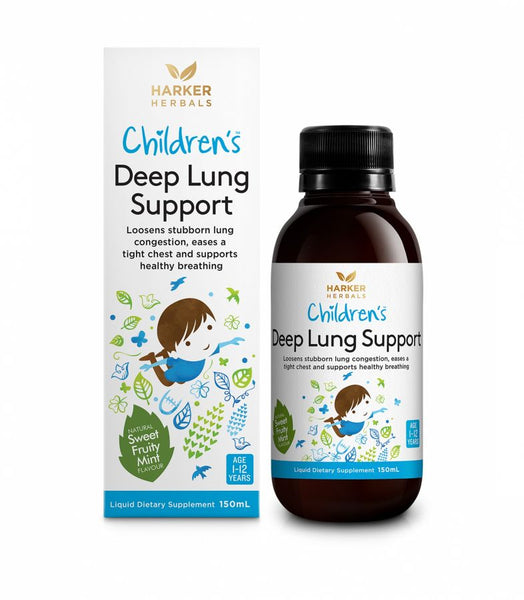 Harker Herbals Childrens Deep Lung Support Liquid 150ml-Sweet Fruity Mint - Pakuranga Pharmacy