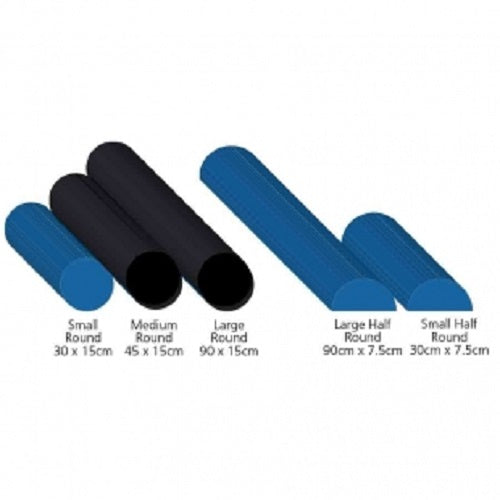 AllCare FOAM ROLLERS - FULL ROUND 45cm Black - Pakuranga Pharmacy