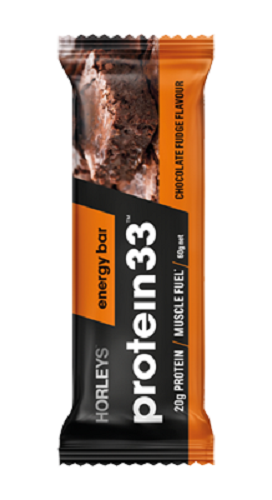 Horleys Protein 33 Energy Bars Chocolate Fudge Flavour 12 Units * 60g