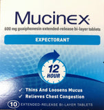 Mucinex Expectorant 12 hour relief 10 tablets - Pakuranga Pharmacy