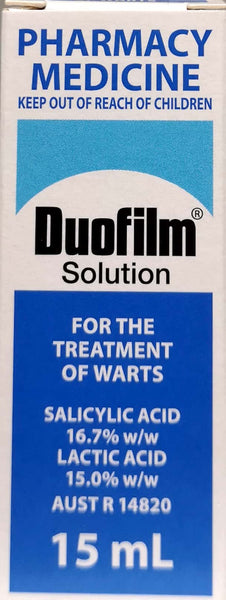 Duofilm Solution 15mL *PHARMACY MEDICINE* - Pakuranga Pharmacy
