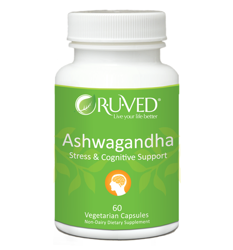 RUVed Ashwagandha Stress and Cognitive Support 60 Veg Capsules