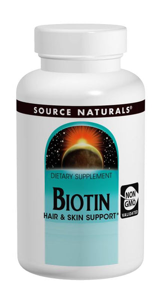 Source Naturals Biotin 600mcg 100 Tablets