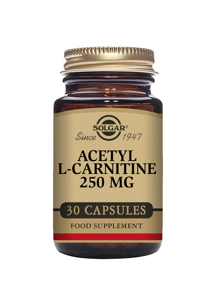 Solgar ACETYL L-CARNITINE 250 mg vegetable 30 capsules