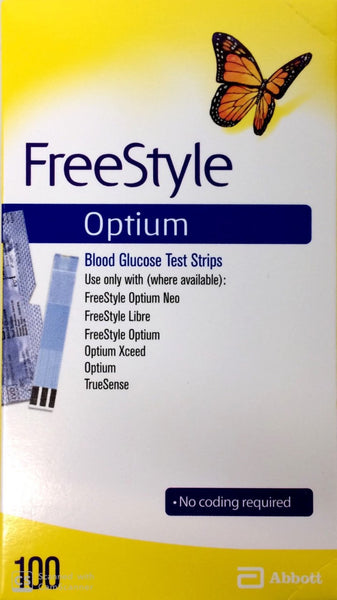FreeStyle Optium Glucose Test Strips - Pakuranga Pharmacy