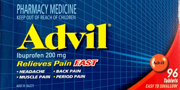 Advil Ibuprofen 200mg 96 Tablets For Pain Relief - Pakuranga Pharmacy