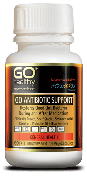 Go Healthy GO ANTIBIOTIC SUPPORT 14 Vege Capsules - Pakuranga Pharmacy