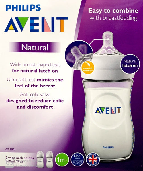 Philips Avent Natural 2.0 Bottle 260ml 2pack