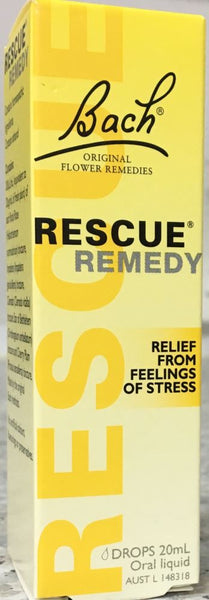 Bach Rescue Remedy Drops 20 mL - Pakuranga Pharmacy