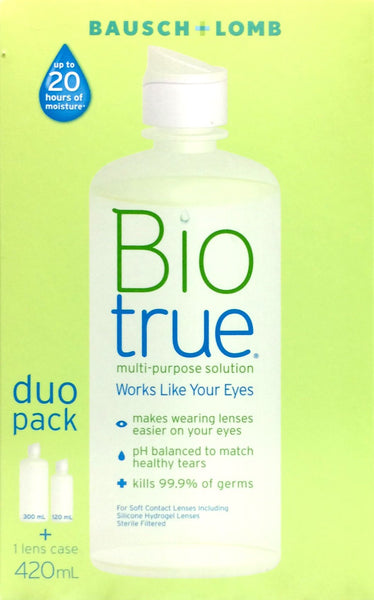 Biotrue Multi-Purpose Solution Duo Pack 420ml - Pakuranga Pharmacy