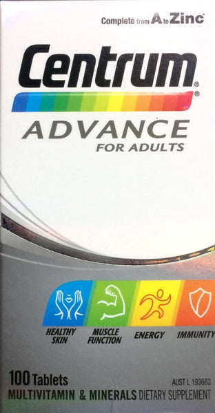 Centrum Advance for Adults 100 tablets - Pakuranga Pharmacy