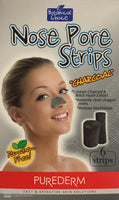 Purederm Botanical Choice Nose Pore Strips Charcoal - Paraben Free 6 Strips