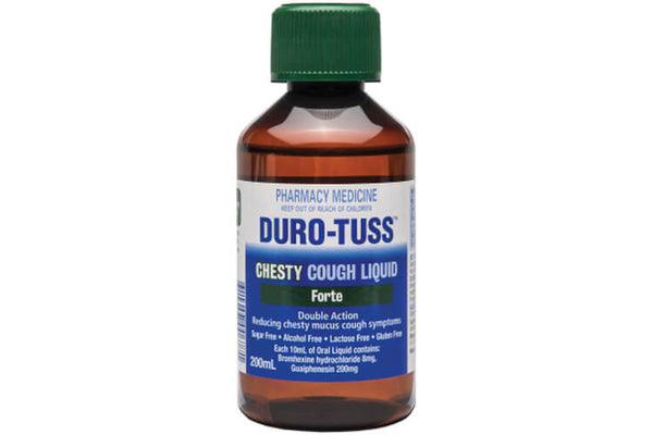 Duro Tuss Chesty Cough Liquid Forte 200ml - Pakuranga Pharmacy